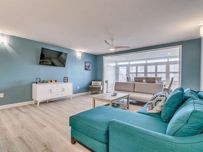 Photo for Beautiful Newly renovated condo steps from the beach