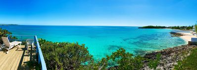 Pano view of the entire bay as seen from the deck. Out of this world!