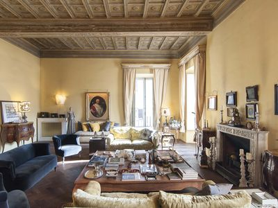 Photo for In Rome, an Aristocratic, 3 Bedroom Apartment in an Elegant Historic Palace near the Piazza Navona