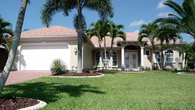 Photo for Luxury waterfront rental vacation villa in Cape Coral with quick gulf access