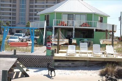House and new deck from the pier