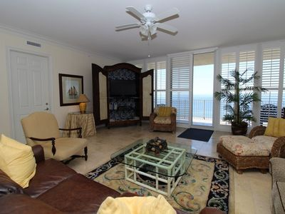 Photo for Mediterranean West 802- Beach Front Condo w/ Hot Tub on Wrap-Around Balcony!