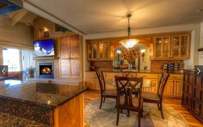 Dining area with built-in cabinetry