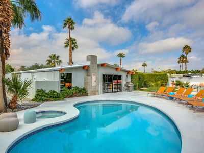 Photo for Mid century modern masterpiece home w/pool and resort backyard!