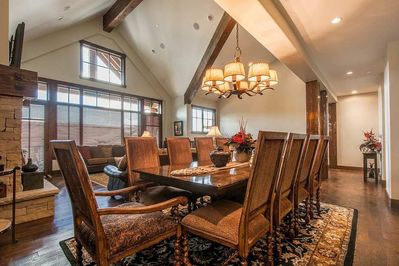 Dining Room Table - Seats 10.  Open to Living Room & Kitchen
