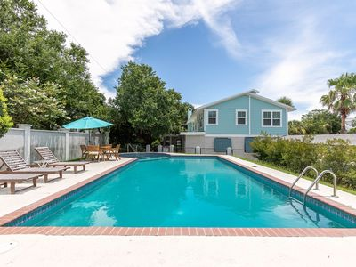 Photo for Large Private Pool, Dual Living Rooms Close to the Beach - Great home for large family vacations!