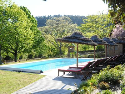 Photo for Southern Ardèche. Property in the middle of a wooded park + heated pool and SPA.