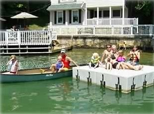The Canoe and Floating Dock are there for your use.