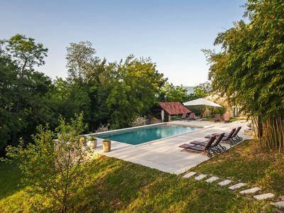 Photo for Nice house with pool and jacuzzi surrounded by nature
