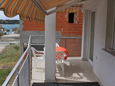 Photo for One bedroom apartment with terrace and sea view Petrčane, Zadar (A-3280-b)