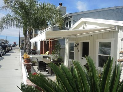 The electric awning is easy to use and provides great shade.