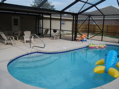 """Photo for Beach house with Private Pool Great Rates """"Golf Cart Rentals Available"""""""