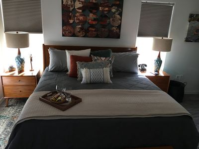 Bedroom. Brand new T&N king bed. Luxury sheets.