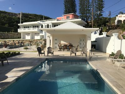 Relax in the heated pool or under the covered gazebo