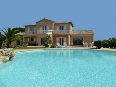 Photo for CALIFORNIAN VILLA kind, park, swimming pool with pool house and its JACUZZI