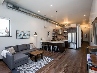 Photo for Stunning , modern , comfortable brand new flat in the heart of Whitefish