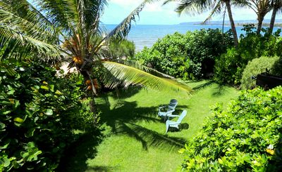 Photo for Pacific Paradise! Oceanfront 1BR w/ Lush Backyard & Private Beach Access