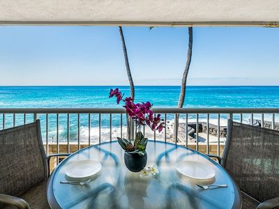 Photo for Oceant Front | Large Lanai | AC | Walk to Beach | Starts at $121/nt