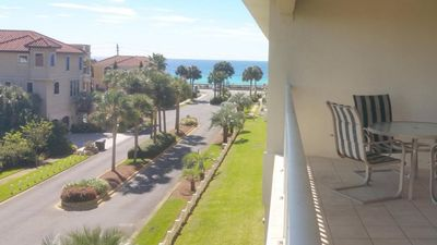 Short walking distance to beach. View from the unit's balcony.