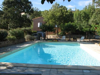 Photo for House for 12/13 people and large pool in the pretty village of scrubland