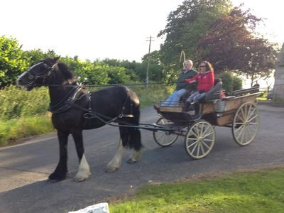 Horse n carts is a regular occurrence outside cottage during the summer months
