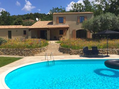 Photo for Detached villa, modern furnishings and large swimming pool, beautiful view