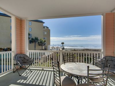 Photo for Spacious condo with breathtaking views of the ocean, beach and dune!