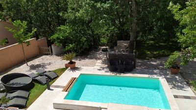 Photo for Villa with swimming pool on 1200m ² with trees - Provence in peace -30min beaches