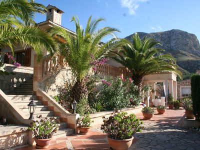 Photo for Charming finca with pool and idyllic palm garden