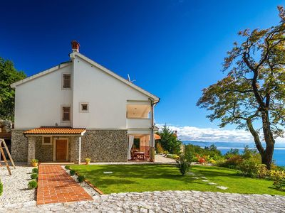 Photo for Villa with pool and amazing view of Kvarner Bay
