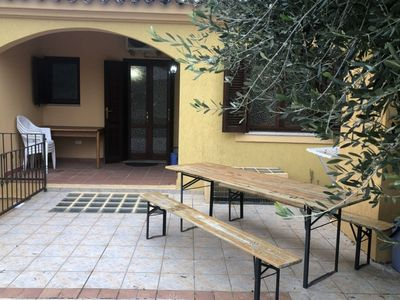 Photo for Centro San Teodoro with A / C, WIFI, BBQ area with furnished veranda, garden with outdoor shower