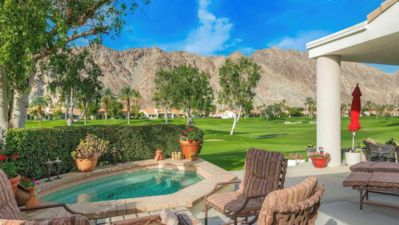 Photo for Fantastic golf course 3 bedroom condo with night lit Santa Rosa mountain view