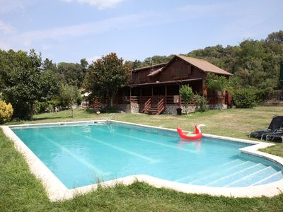 Photo for Mountain Chalet with Swimming Pool / Tennis Court / BBQ