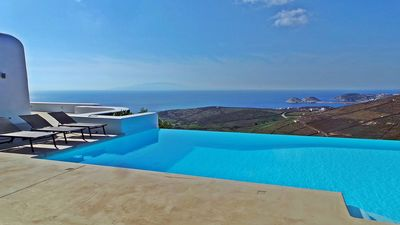 Photo for Villa Andromeda, in Tigani, in the south of Mykonos, 5 bedrooms, swimming pool, sleeps 10.