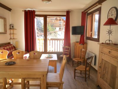 Photo for bright duplex, open view, private pool, skis, prox Valloire