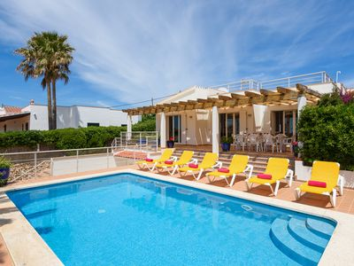 Photo for IDEAL LARGE FAMILIES, facing the sea and a few meters from the beach of Binibeca