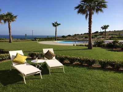 Photo for Stylish, Garden Apartment With Unparalleled Ocean Views