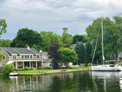 Photo for Beautiful 4 BR/3 BA Lake Home--Sleeps 10 on Pentwatwater Lake, Pentwater MI