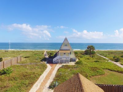 Photo for Vilano Beach Oceanfront Cottage - Right on the Beach!