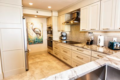 Our newly renovated kitchen with all top of the line appliances.  Wow!