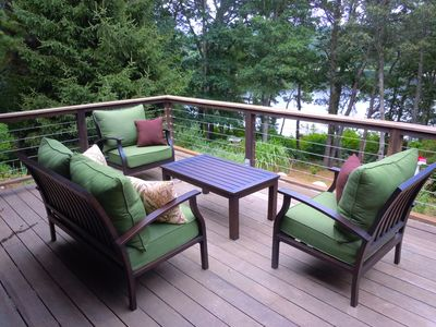 Photo for Waterfront Home with Large Private Deck and Hot Tub Overlooking Pond; 054-O