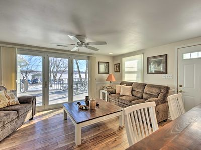 Photo for NEW! Lakefront Cambellsport Home w/Deck+Party Room