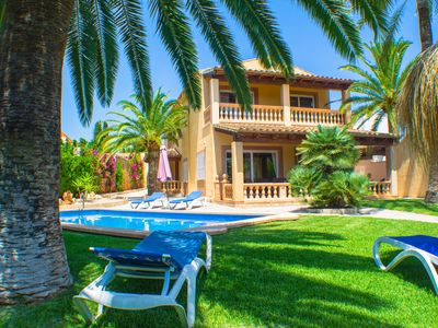 Photo for large villa with pool and palm garden - 8 persons + 4 children