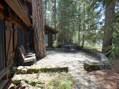 Photo for McCall lakefront log cabin