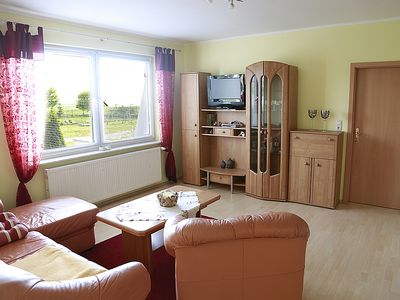 Photo for bright and friendly apartment overlooking the Lake Kummerow, single storey