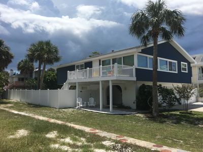 Photo for THE GREAT ESCAPE, 63 steps to beach, Heated Pool, 2nd Level deck with Ocean View