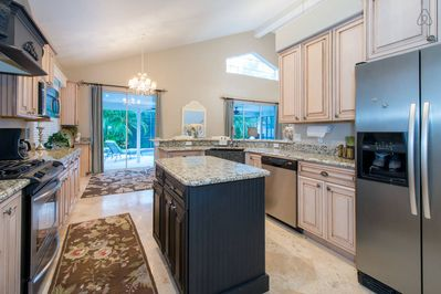 Beautifully remodled kitchen with everything needed for cooking and entertaining