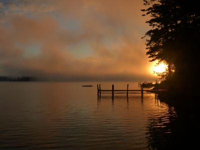 Fall sunrise on the lake - from the dock.