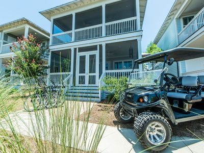 Photo for 6 Seater Golf Cart! 2 King Suites! Ride to Seaside! Resort Pools! ~ Sunset at Seagrove at NatureWalk