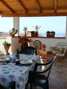 Photo for wonderful apartment with veranda overlooking the sea and garden